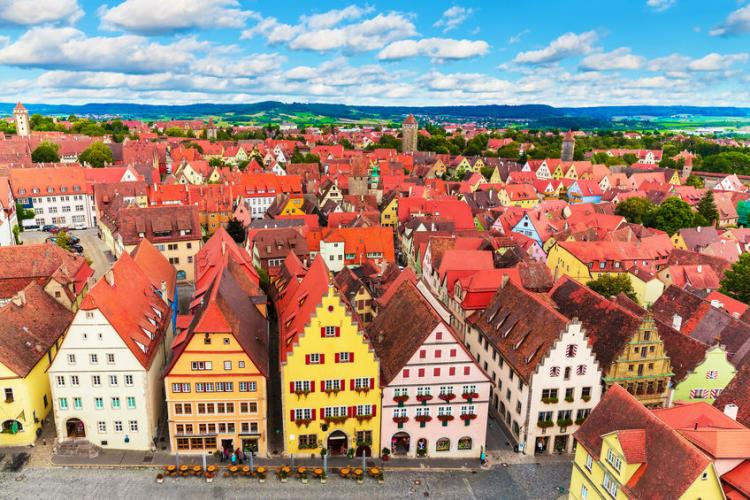 A picturesque view of Rothenburg ob der Tauber