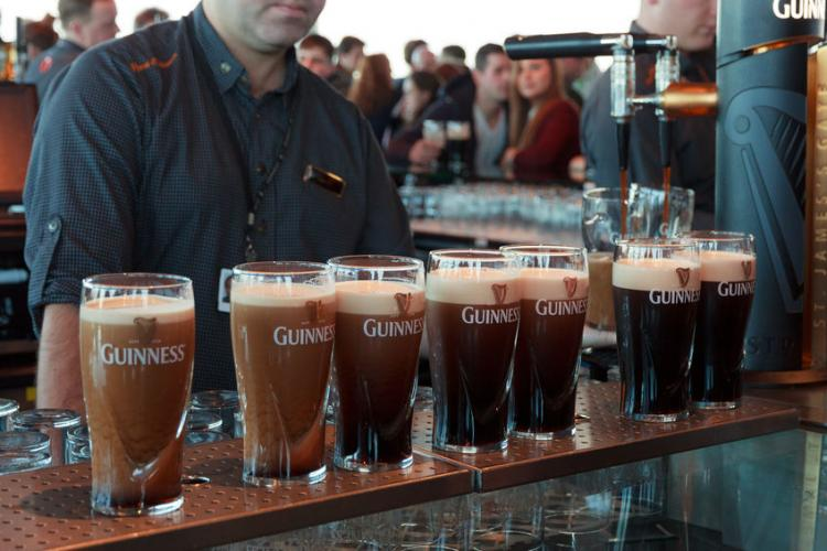 Pints served at the Guinness Brewery in Dublin   Photo by jvdwolf