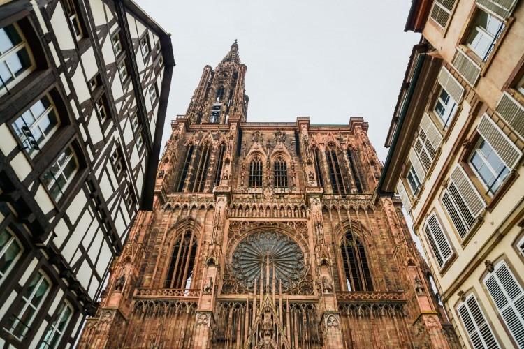 The Strasbourg Cathedral   Photo by stevanzz