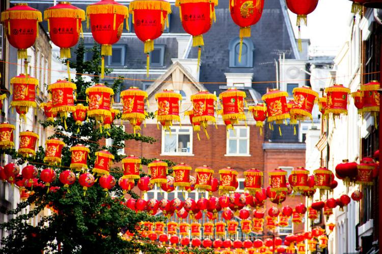 Red lanterns spread throughout London for Chinese New Year. | Photo by marcogovel