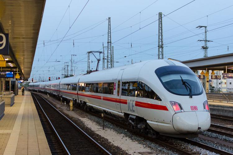 High-speed ICE Train in Munich | Photo by Sergey Kuznetsov