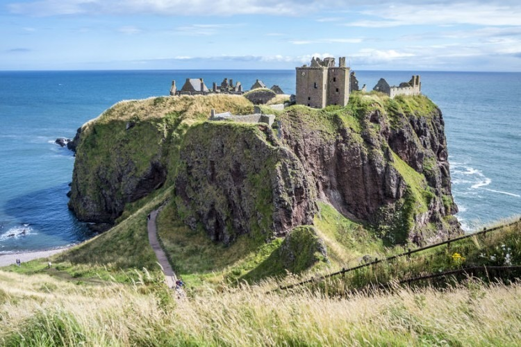 Dunnottar Castle ruins in Stonehaven, Scotland