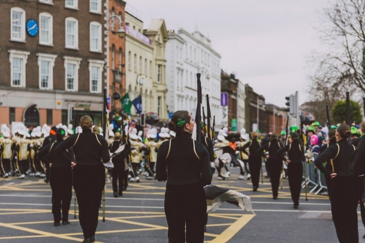 Performers at the St. Patrick's Day Parade in Dublin. | Photo by faithie via 123RF.