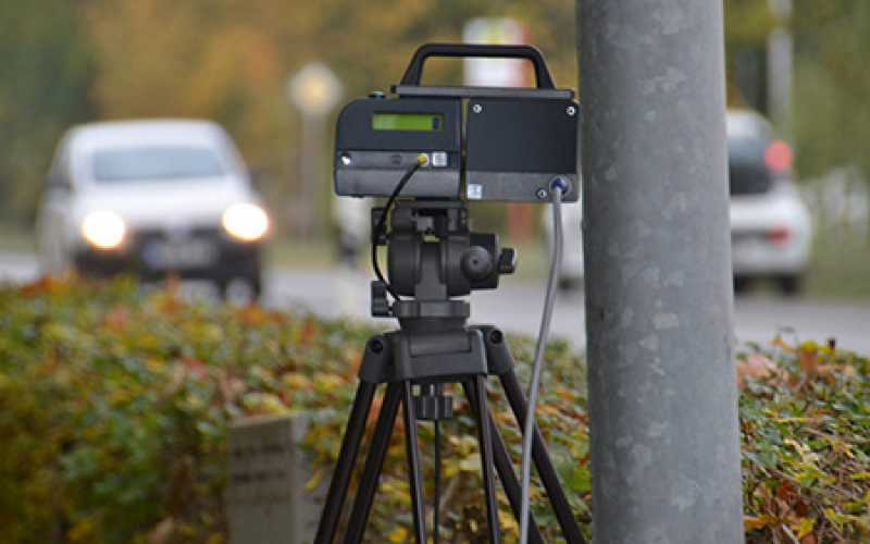 An automatic speed camera enforces the speed limit on a German roadside. Germany's state of Rheinland-Pfalz plans to crack down on excessive speeding by adding 15 more cameras to its roadways in 2017. COURTESY PHOTO